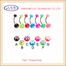 Seven Color Magnetic Fake Tongue Piercing