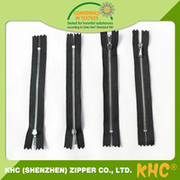 Top selling professional custom made 5 # 8# zip head metal zinc zipper slider for clothing