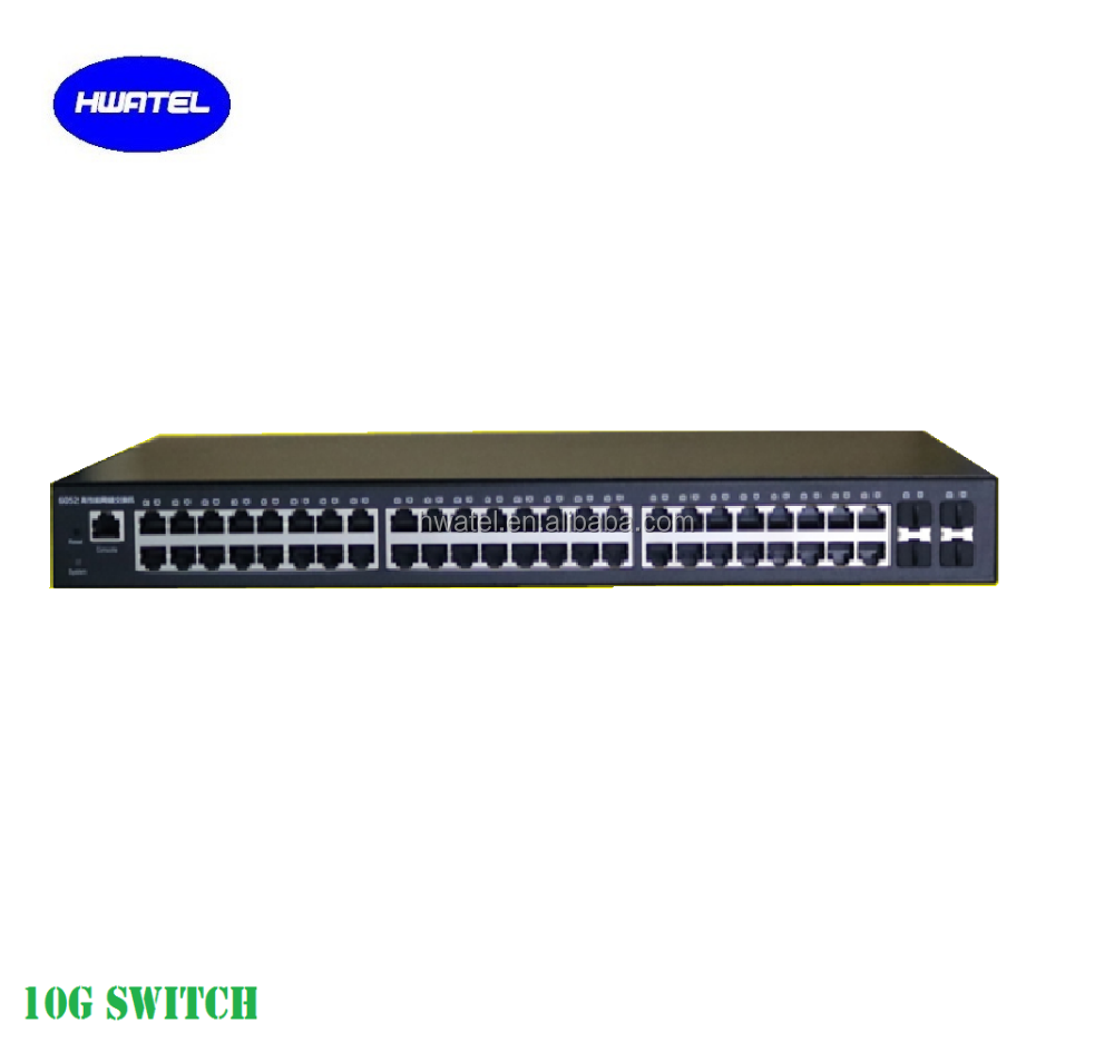 48 port giga fiber switch with max 4*10G uplink SFP+ ports <strong>L2</strong> management qaidway BDCOM OEM