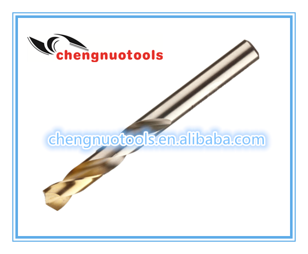 Power tools of HSS fully ground Drill bit in DIN338 standard with TIP-TIN coated for metal drilling made by china manufacture.