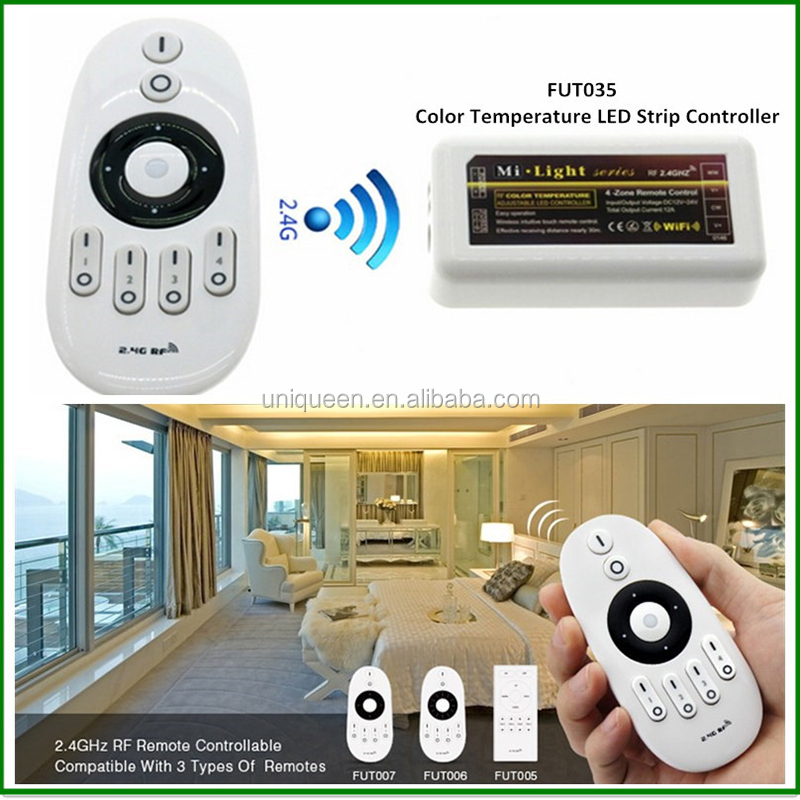 Mi.Light 2.4G RF DC12-24V Brightness and Color Temperature Dimmer Receiver Controller for WW / CW LED Strip , 1pc / lot