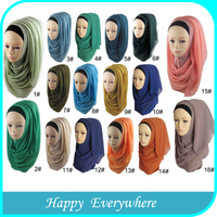 Chiffon wholesale fashion muslim hijab scarf, hijab