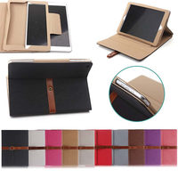 Multi Function Book Style Leather Case for iPad , Luxury Leather Case for iPad 2/3/4