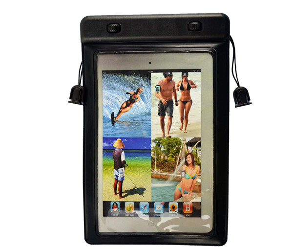Usefully stylish customized pvc waterproof bag swimming belt clip case for ipad mini