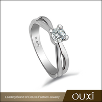 Jewellery Online OUXI Design Gold Plated Engraved Silver Ring