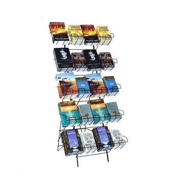 Wire display racks and stands for book