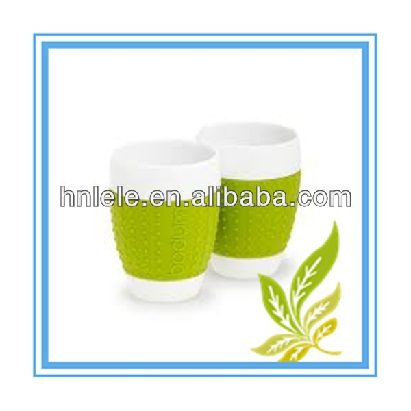 HAINING LELE supply custom silicone coffee cup sleeve,silicon cup sleeve
