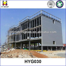 3 floors prefabricated steel structure hotel building plans