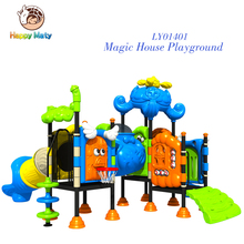 China Plastic outdoor or indoor playground equipment with slide and climbing EN71 TUV CE