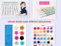 2016 fashion jewellery loose beads silicone beads wholesale