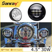 Motorcycle part 4.5 inch motorcycle led fog light 18w 30w round fog lamp for harley davidsion