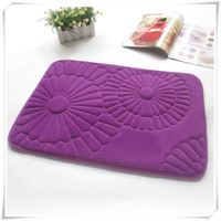strong water absorption cat mats/Memory foam bath mat_ Qinyi