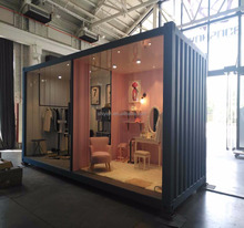 20HC shipping container house for movable prefad expandable show room