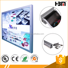 Front open ultra slim advertising display light box