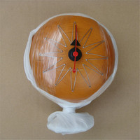 modern wooden decor table ball desk pill clock with stand