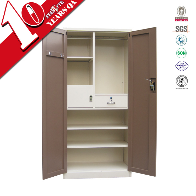 Self Assembly Bedroom Furniture Two Door Iron Cloth Locker Teenage