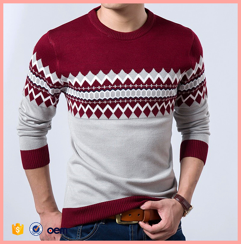 2016 autumn new men's models Korean sweater round neck long-sleeved pullover thin sweater