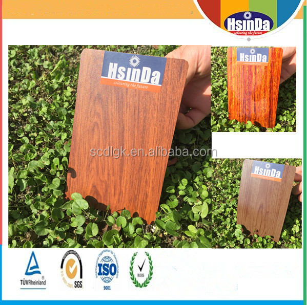 Heat transfer paper technology wood effect aluminium powder coating paint
