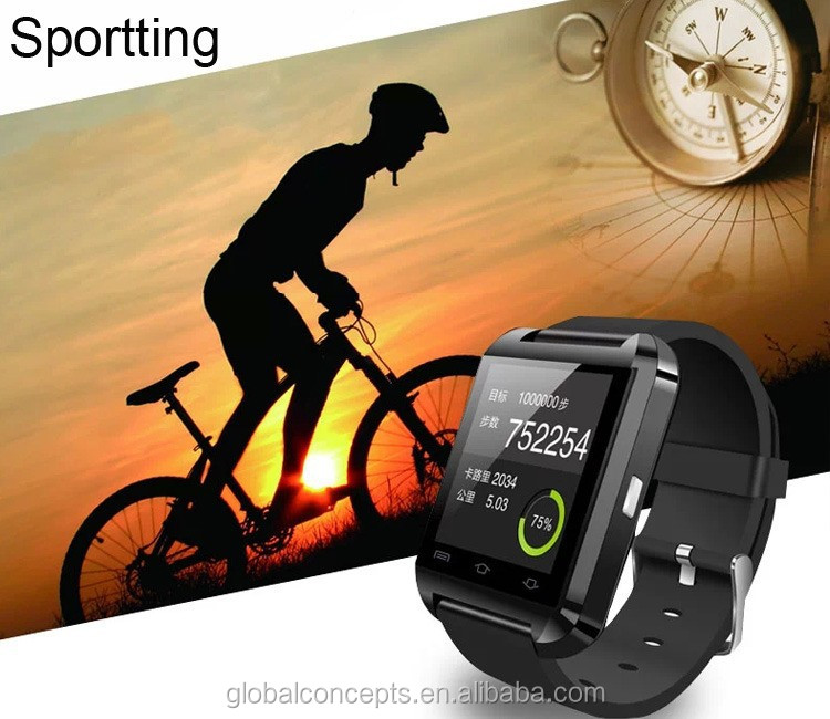 cheapest touch screen cheap smart watch U8 OEM bluetooth for android and ios