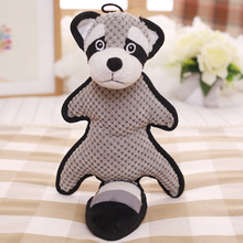 Customized Animal Cartoon Cat Dog Play Chew Plush Stuffed Squeaky Pet Toys