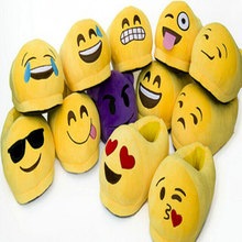 Popular Men Indoor Soft Plush Emoji Shoes Emoji Slippers Canada