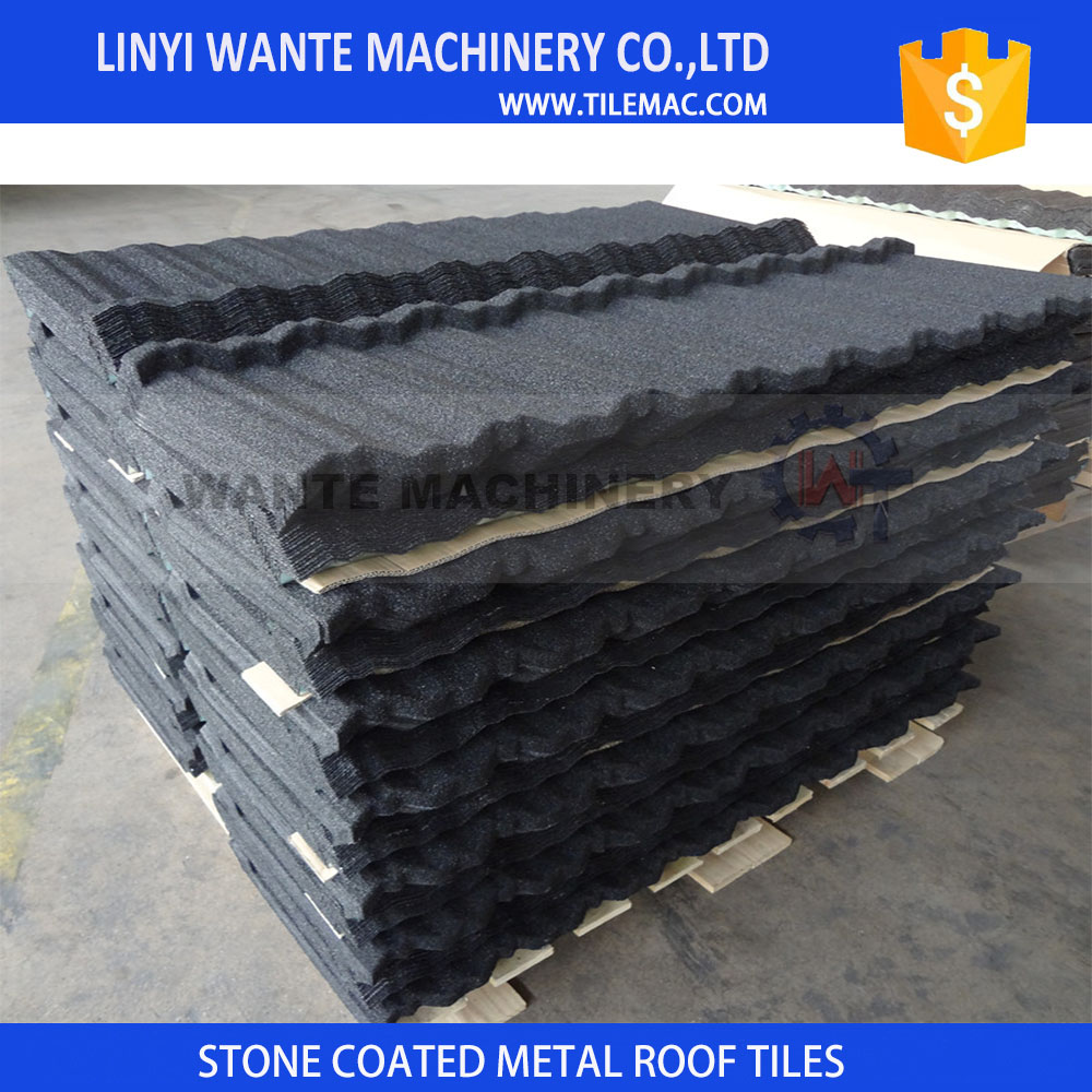 For all kind of building roofs Building material aluminium-zinc stone coated steel roof tile Classical with high quality