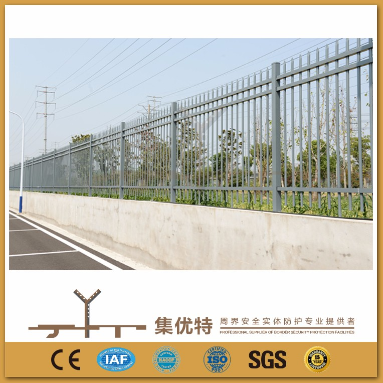 New style powder coated galvanized steel modular fence panels