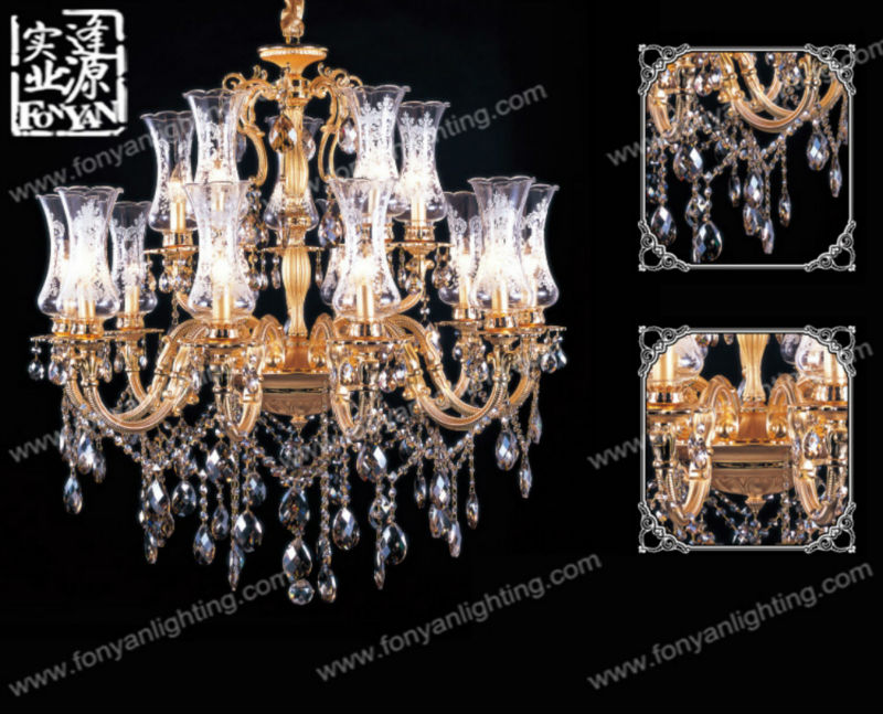 beautiful contemporary crystal ceramic chandelier MDG3023-10+5