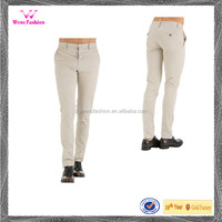 Wholesale Cotton Casual Office Business White Long Trousers for Women