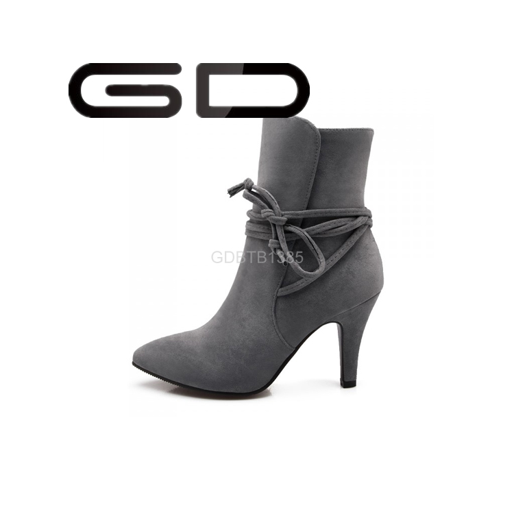 beautiful tassel decoration ankle boots for women warm pointed toe winter shoes