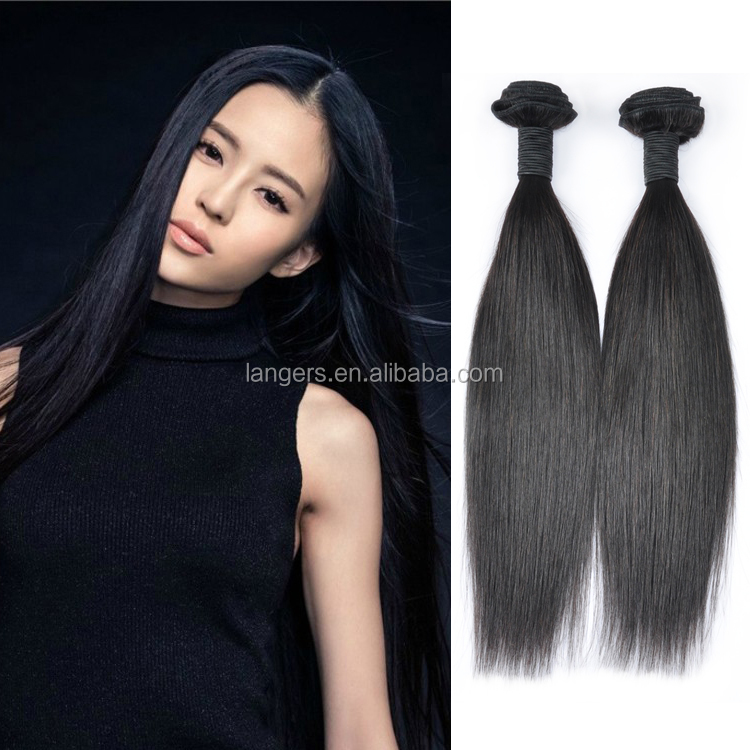 2017Hot Sale Cheap Black Elegant Hair Indian Temple Straight Human Hair