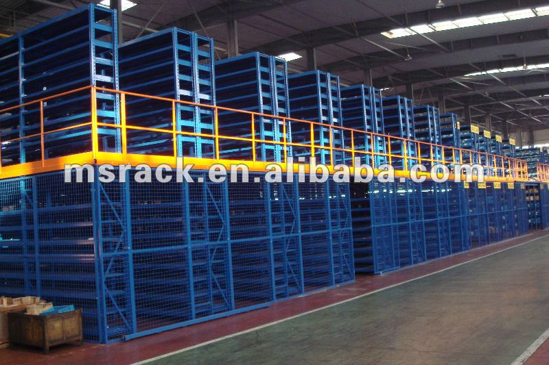 Warehouse storage multi-level mezzanine racking,racking supplier,storage racking system