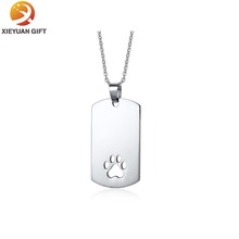 Factory Custom Paw prints Metal Dog Tag
