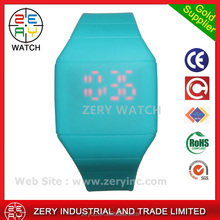 R0464 mix colors simple fashion silicone wristband watch , digital movement silicone wristband watch