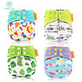 HappyFlute one size bambooAIO diaper baby washable diaper heavy wetter AI2 cloth baby diapers