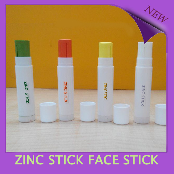 4g coloured sunscreen zinc stick with zinc oxide