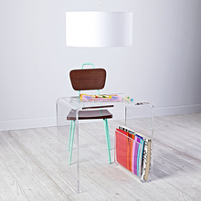 Transparent Table for Home Lucite Furniture with Book Holder Clear Custom Acrylic Toddler Desk