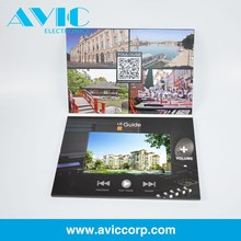 Electronic multimedia LCD Video Greeting Card , automatic video booklet for business
