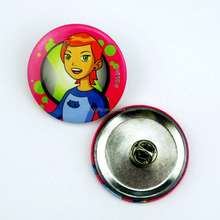 Hottest sale plastic magnetic reusable name badge custom made plastic button badge