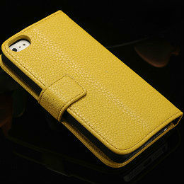 latest cell phone leather case for iphone 5 decorative cover for iphone5 flip wallet case for iphone 5
