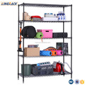 5-tiers storage functional wire shelving Rack-black