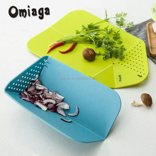 New Design Fancy Over-the sink Plastic Cutting Board with Drawer