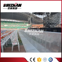 Temporary barrier for sale metal crash concert crowd control barrier