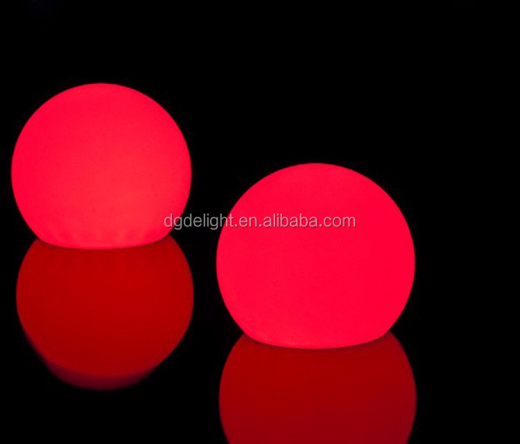 Waterproof Battery Power Plastic LED Light Balls Multi-color LED Mood Light Ball