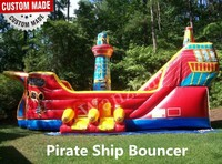 kids pirate ship bounce house/cheap bouncy house castle for sale