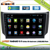 10.2inch Android 4.4.4 car dvd gps Special for Nissan Sylphy Android car dvd gps player with bluetooth radio car dvd gps player