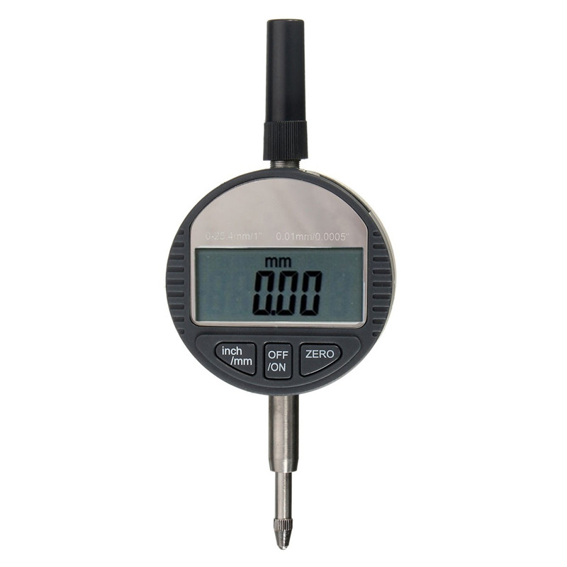 High Quality Portable Digital Dial Indicator 0.01mm/.0005 inch Range 0-25.4mm/1 inch Gauge New Arrival