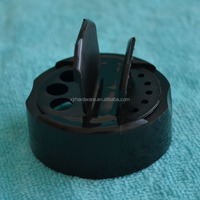 48-485 Black Flip Top 3 Hole Spice Cap with HIS Liner