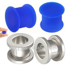 00 gauge silicone plugs kit steel Plugs stretching Earring Tunnels