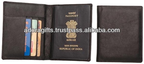 unisex trendy custom passport holder / 2017 branded leather passport cover / brown passport wallets holder